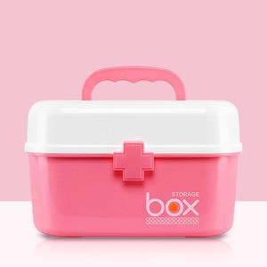 Plastic Household Medicine Chest Multi-Grid Double-Layer Home First Aid Kit Kits Medicine Cabinet Debris Storage Box