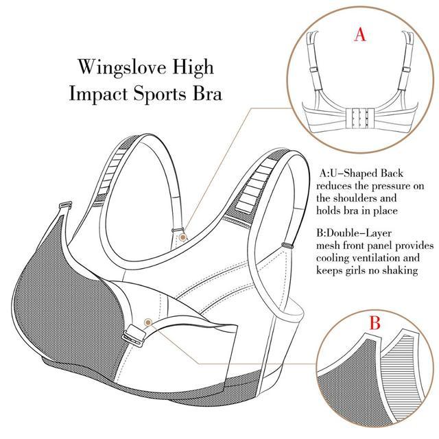 Купить wingslove женский спортивный бюстгальтер с высоким упругой поддерживающий картинки цена
