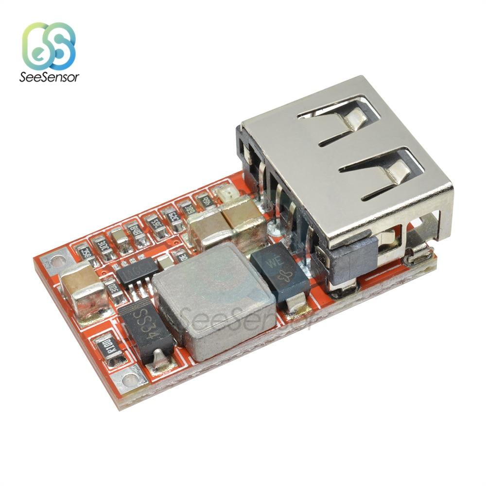 6-24V 12 V/24 В до 5 В пост 3A автомобиля модуль зарядного устройства USB DC понижающий преобразователь Питание модуль