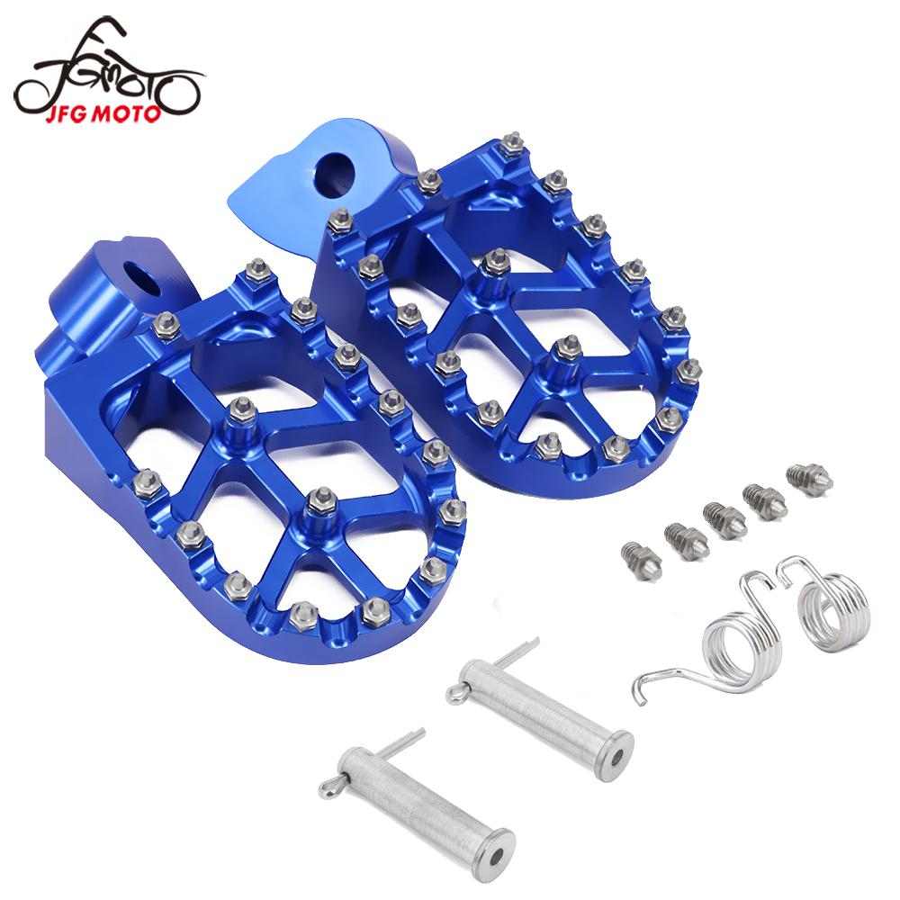 Motorcycle CNC Footrest Footpeg Foot Pegs For YAMAHA YZ65 YZ85 YZ125 YZ250 YZ YZF 125 250 450 WR250F WR450F WRF YZ250FX YZ450F(China)
