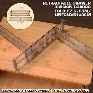 Plastic DIY Grid Drawer Divider Household Adjustable Drawer Dividers Necessities Storage Organizer DIY Home Office Kitchen