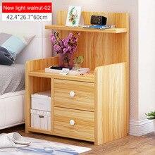 Тумбочка деревянная прикроватная тумбочка с ящиком Органайзер шкаф для хранения мода мини стол мебель для спальни