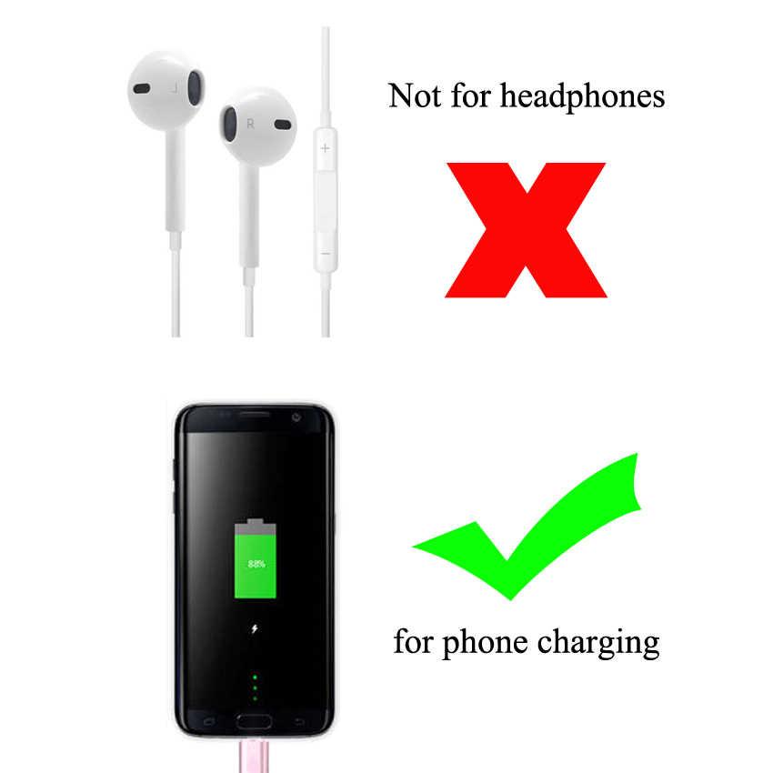 Ngọc Khê Loại C Sang Micro USB 3.0 USB-C Adapter Dành Cho iPhone & Sạc Android/Ngày Đầu Nối Dây Cáp đến Cổng IOS