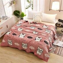 Papa & mima gato peixe impressão verão lance cobertores velo plaids multi tamanho colcha de cama multifuncional