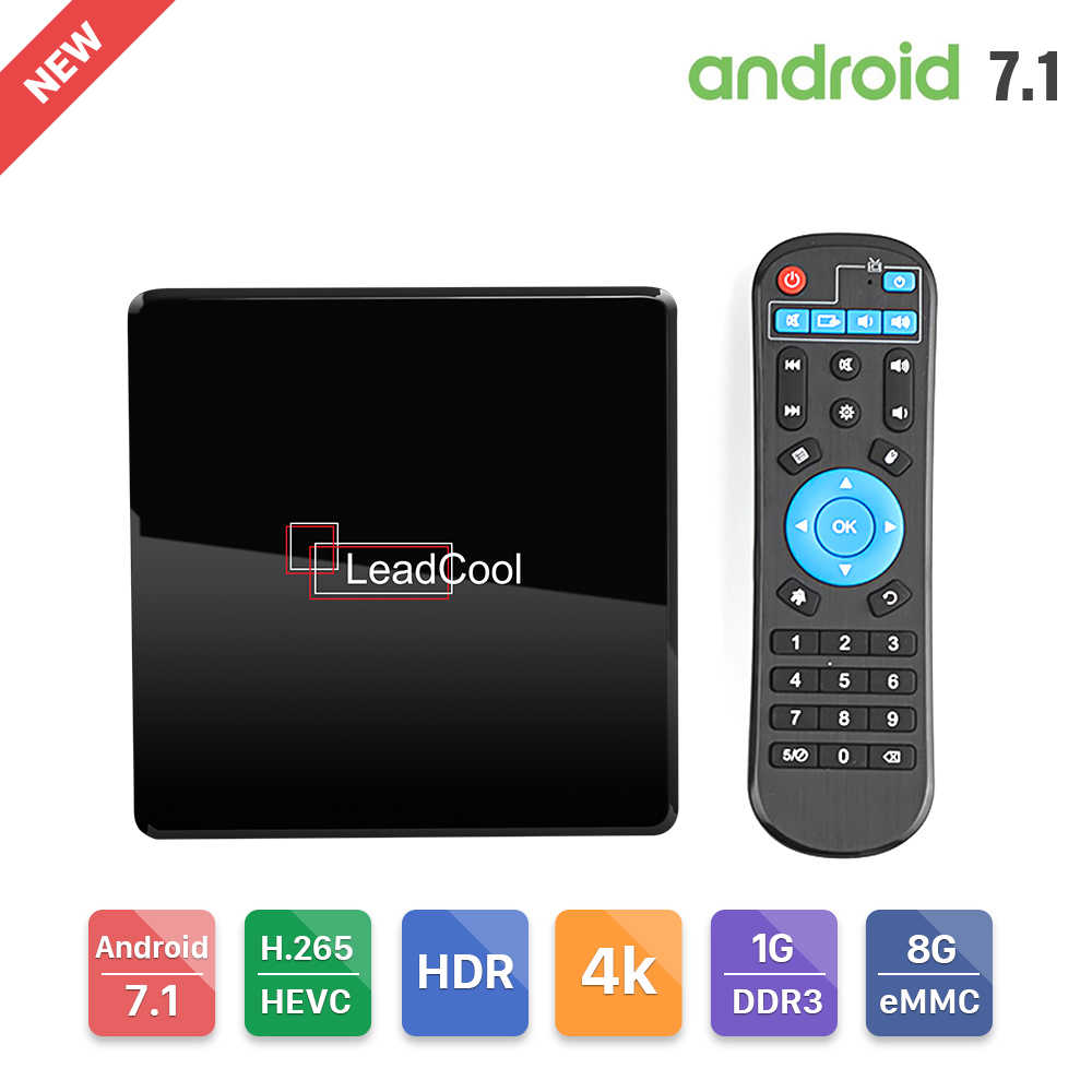Leadcool X Smart Android TV Box Amlogic S905W 4K lecteur multimédia 1G DDR3 8G eMMC 2.4GHz Wifi 100M Android 7.1 Leadcool décodeur