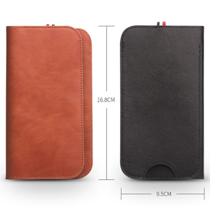 Image 2 - MYL 38W Multi function Handmade Pure Genuine Leather Wallet For iPhone 11 Pro Max 7 8 Plus Xs Max Real Cowhide Pouch Bags Case