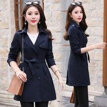 Китайский Gedi Love, осенний и зимний стиль, женская ветровка, женская, средней длины, двубортный, приталенный, утягивающий костюм C