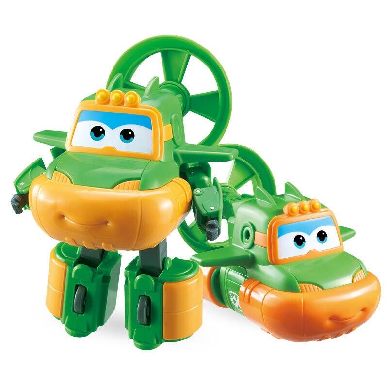 Большой! 15 см ABS Супер Крылья деформация самолет робот фигурки Супер крыло Трансформация игрушки для детей подарок Brinquedos - Цвет: No Box Swampy