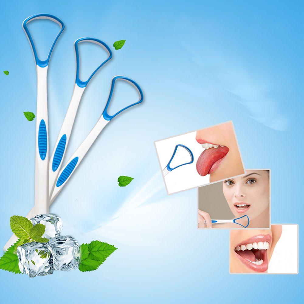 2pcs Portable Tongue Cleaner Brush Soft Tongue Scraper Floss Dental Care Keep Fresh Breath Oral Hygiene Tools Health Care
