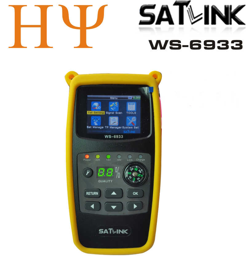 Originele Satlink WS-6933 2.1 Inch Lcd-scherm DVB-S2 Fta C & Ku Band 6933 WS6933 Digitale Satelliet Finder Meter