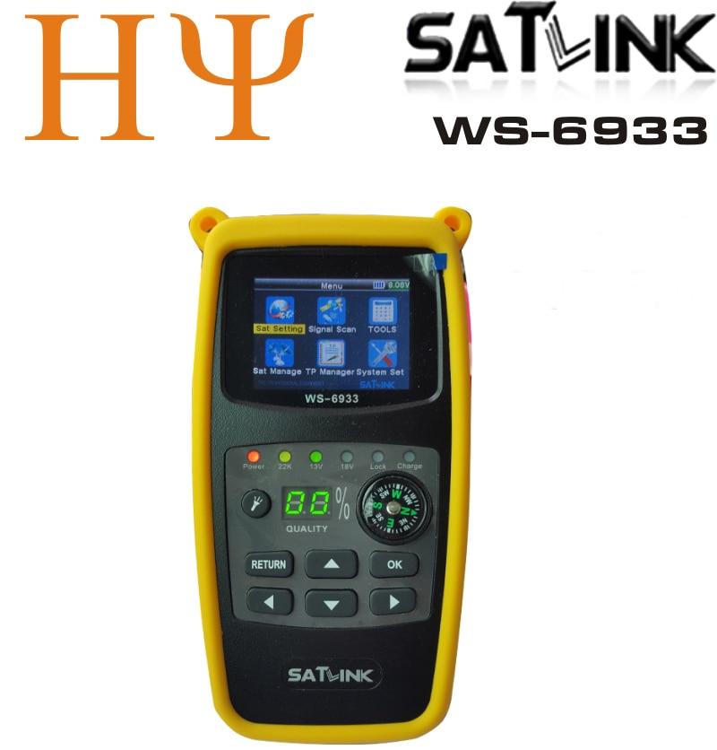 Original Satlink WS-6933 2 1 Inch LCD Display DVB-S2 FTA C amp KU Band 6933 WS6933 Digital Satellite Finder Meter