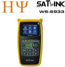 Original satlink WS 6933 2.1 Polegada display lcd DVB S2 fta c & ku banda 6933 ws6933 digital localizador de satélite medidor