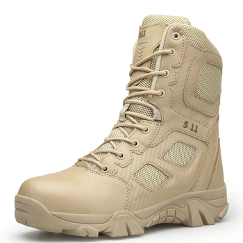 New Mens Military Boots High Top Outdoor Hiking Shoes Men Anti-collision Quality Army Tactical