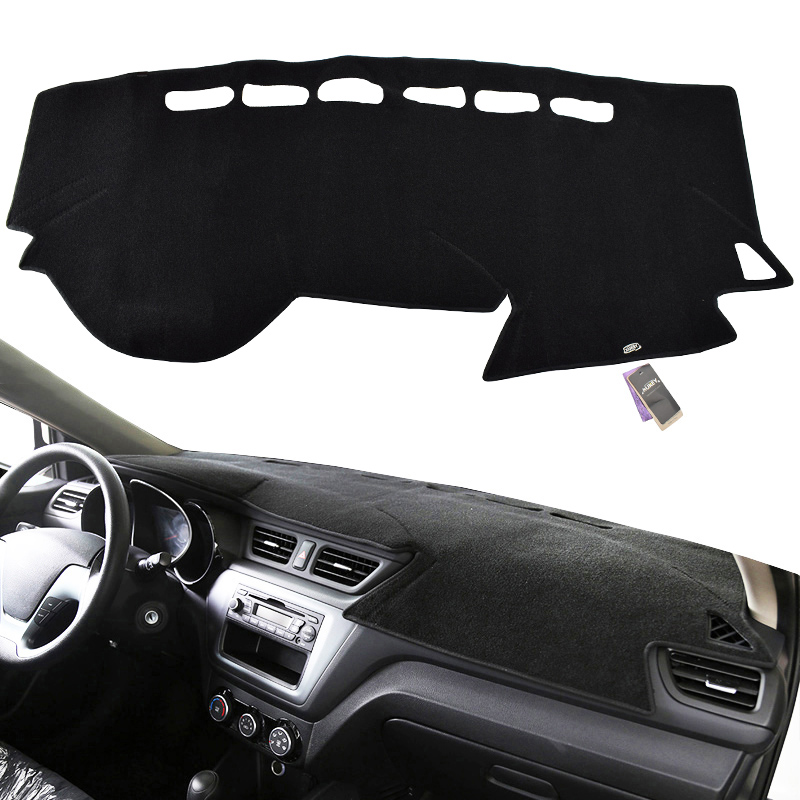 Xukey Dash Cover Mat Dashmat Dashboard Cover For Russia Kia Rio 3 Rio 4 K2 2012 2013 2014 2015 2016 2017 2018 2019 2020
