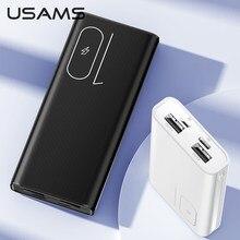 USAMS double USB Mini batterie d'alimentation 10000mAh chargeur rapide Powerbank Micro USB Type C Ports batterie extensible pour Xiaomi Iphone 11