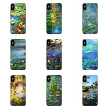 Soft TPU Non-slip For Galaxy Grand A3 A5 A7 A8 A9 A9S On5 On7 Plus Pro Star 2015 2016 2017 2018 Monet Garden Lotus(China)