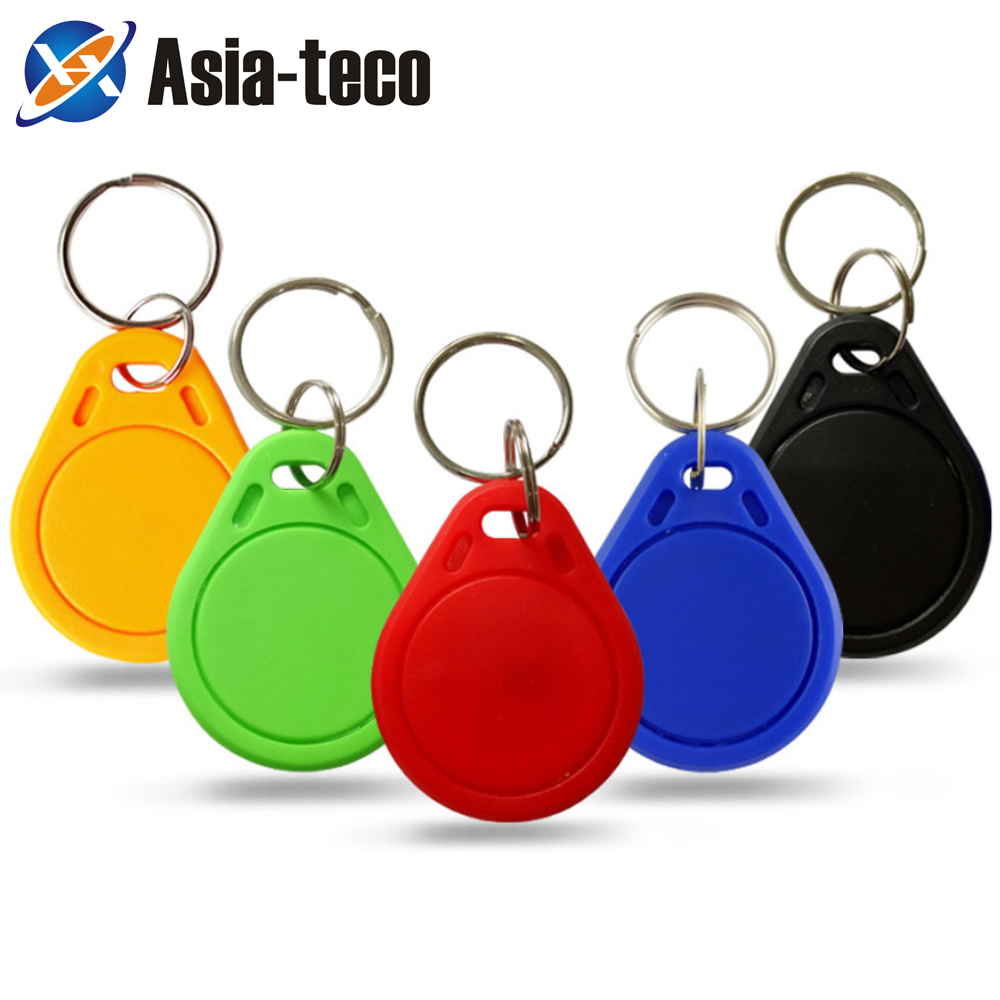 100pcs 13.56MHz IC M1 Keyfobs Tags Access Control RFID Key Finder Card Token Attendance Management Keychain