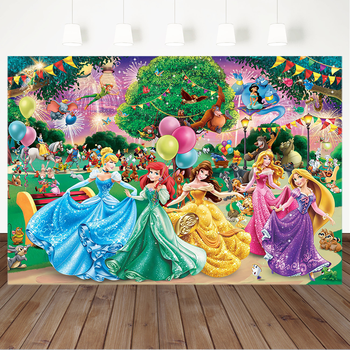 FairyTale Princess 1st First Birthday Background for Photography Cartoon Backdrop Girl Party Decoration Supplies Poster