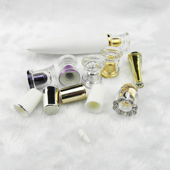 Wholesale 40ml white cosmetic tube with screw cap, empty essential oil soft tube