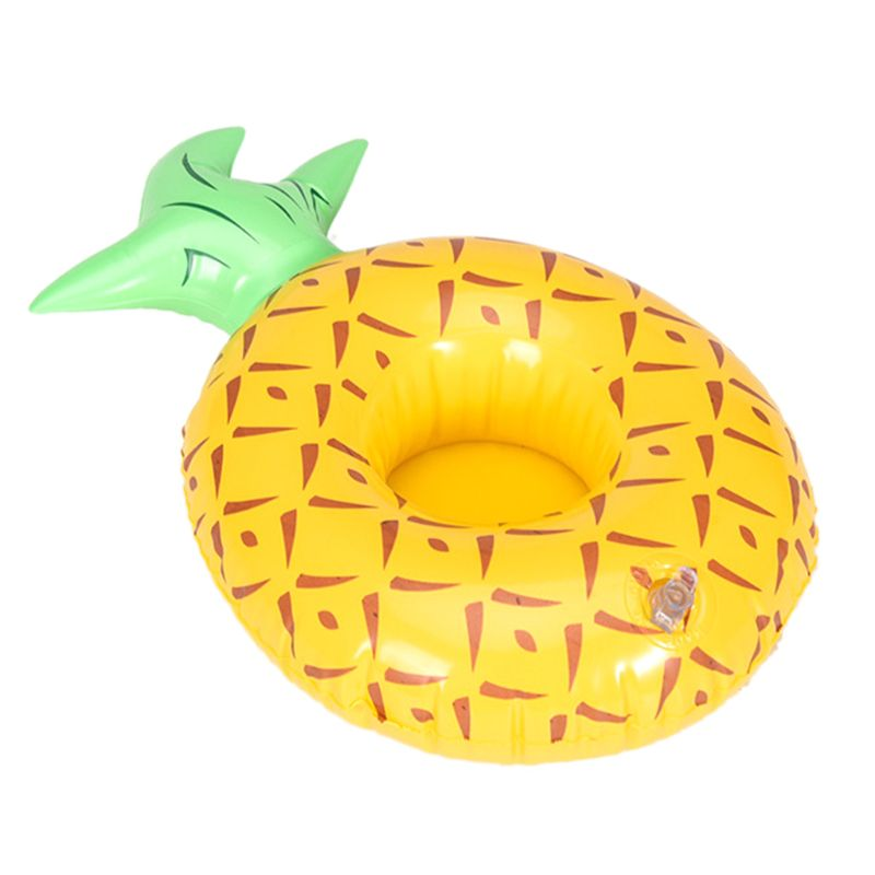 Cartoon Fruit Pineapple Cup Holder Inflatable Water Pool Toy Coaster Floating Drink Cups Holders 72XC