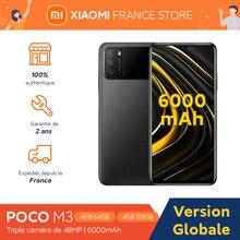 Xiaomi-teléfono inteligente POCO M3, versión Global, 4GB y 128GB, 662 Snapdragon, pantalla de 6,53 pulgadas, Triple CÁMARA DE 48MP, desbloqueo facial por inteligencia artificial, 6000mAh