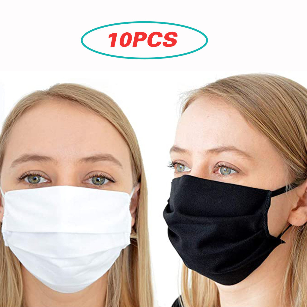 10PCS Men Women Washable Reusable Breathable Face Masks Cover Seamless Outdoor Riding Quick-drying Dustproof Mask Respirator
