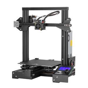 Image 2 - CREALITY 3D Ender 3 профессиональный принтер печати маски Магнитный алюминиевая плита горячего отжига возобновить Мощность отказ Печать комплект бренд Mean Well представляет Питание