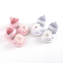 Summer Baby Shoes Headband Set Floral Pattern Princess Sandals Shoes For Girls Soft Sole Anti Slip Baby Girl Shoes First Walkers недорого