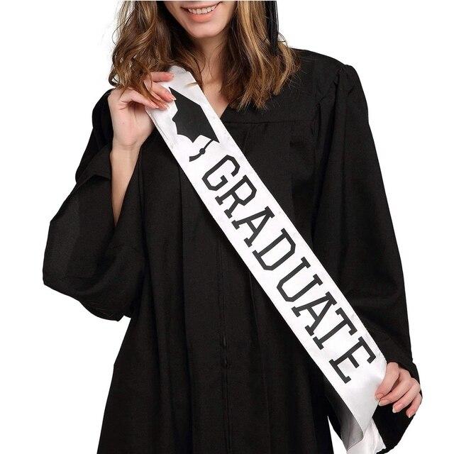 Je suis diplômé Satin diplômé cadeau célébration accessoires Photo élégant XY056