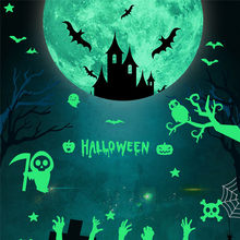 Bloodstained Glass wall sticker Halloween horror glass wall stickers blood Decoration Blooding Handprint Foot 3D Wallpaper /D(China)