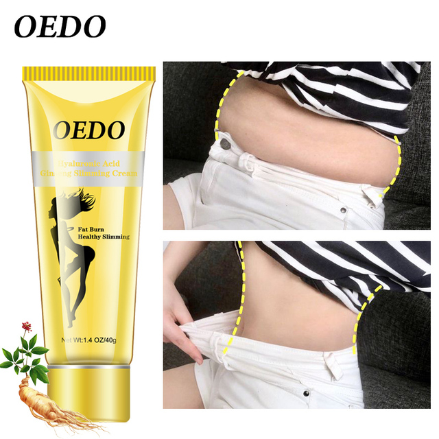 OEDO Hyaluronic Acid Ginseng Slimming Cream Reduce Cellulite Lose Weight Burning Fat Health Care Cream 40g