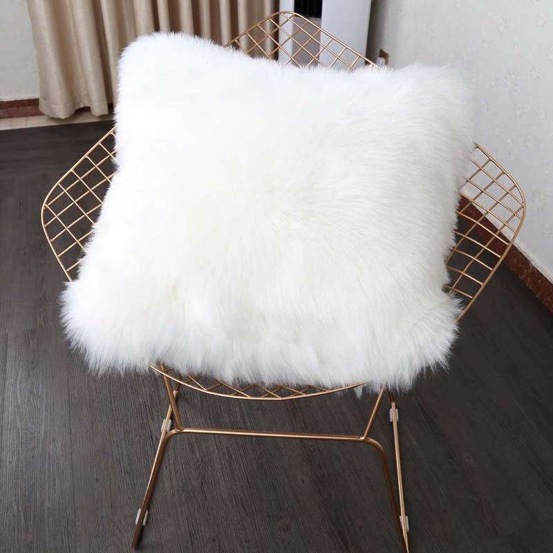Faux fur Cushion for Home Decor and Office , TArtificial wool Sofa Lumbar pillow Home Decorative Pillow Car Seat Free Shipping
