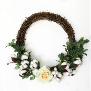 Image 5 - 10HeadsNaturally מיובש כותנה פרח צמחים מלאכותיים פרחוני סניף לחתונה מסיבת קישוט מזויף פרחי בית Decorflower