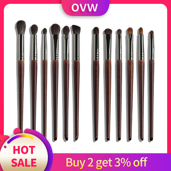 цена на OVW Cosmetic 6 pcs Ultra Soft Goat Hair Makeup Eye Shadow Brush Set Tool trucchi pennelli Tapered Blender Diffuse Kit Cut Crease