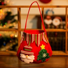 New Christmas Xmas Tree Hanging Ornament Cartoon Gift Bag Decorations Bags Holders Home Party Creative Kids