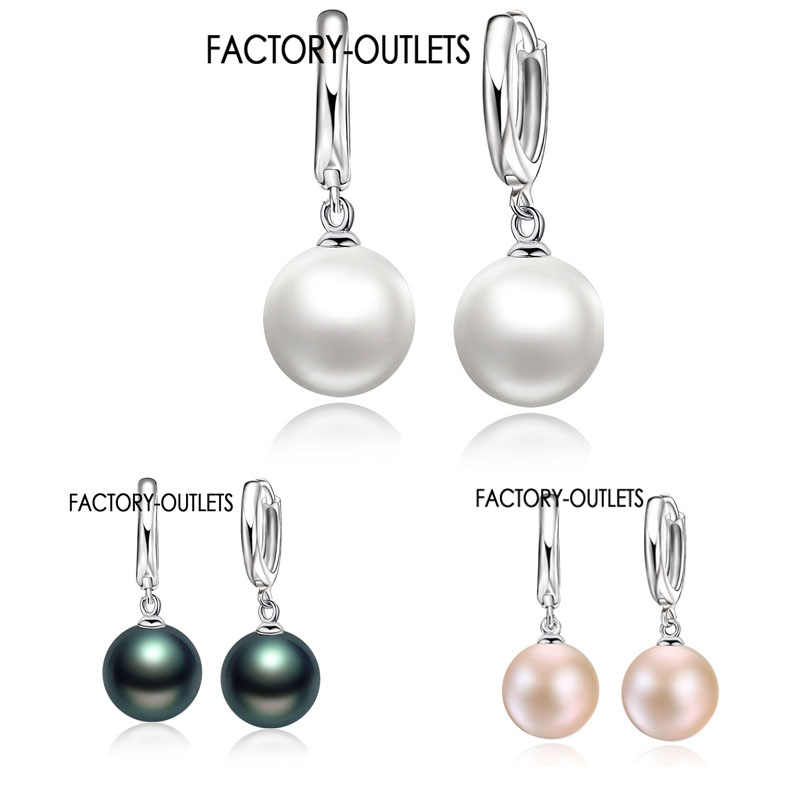Factory Outlets High Quality 925 Sterling Silver White Pearl Earrings Fashion Earring Accessories For Women/Girls Jewelry Gifts