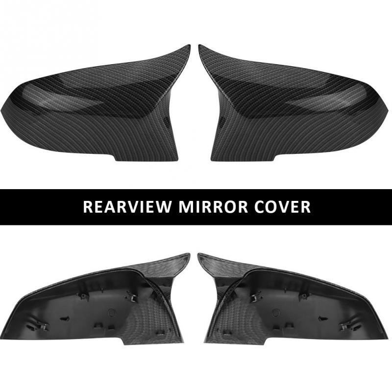1 Pair Glossy, Black Left Right Side View Mirror Cover for BMW 220i 328i 420i Qiilu 2 PCS Mirror Cap Cover for BMW F20 F21 F22 F30 F32 F33 F36 X1