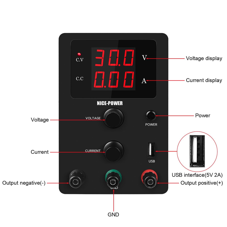 Nieuwe Usb Dc Laboratorium 60V 5A Gereglementeerde Lab Voeding Verstelbare 30V 10A Voltage Regulator Stabilisator Switching Bench bron 2