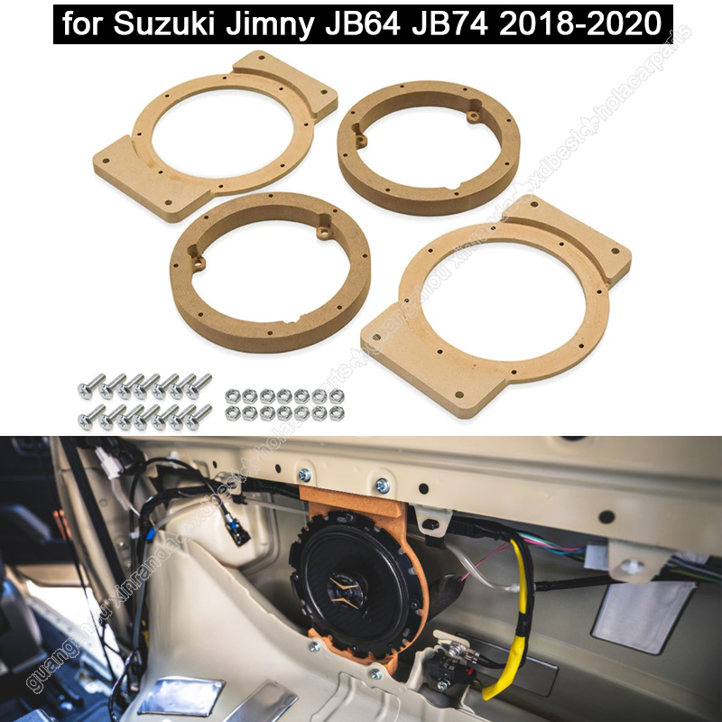 1Pcs Car Speaker Spacer Wooden Speaker Mounts for Suzuki Jimny JB64 JB74 2018-2020 Car Audio Horn Refit Rings Mat Mount Adapter