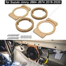 1 Chiếc Loa Xe Hơi Không Gian Siêu Tốc Loa Gỗ Ốp Cho Suzuki Jimny JB64 JB74 2018 2020 Âm Thanh Xe Ô Tô Sừng Tái Trang Bị nhẫn Thảm Mount Adapter