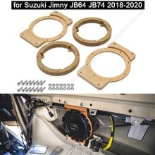 1Pcs Car Speaker Spacer Wooden Speaker Mounts for Suzuki Jimny JB64 JB74 2018-2020 Car Audio Horn Refit Rings Mat Mount Adapter