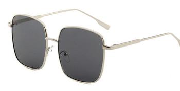 Okulary przeciwsłoneczne okulary wędkarskie damskie Vintage ponadgabarytowe okulary kwadratowe odcienie metalowa rama damskie okulary przeciwsłoneczne UV400 okulary szkła z efektem oceanu tanie i dobre opinie 56mm 59mm 131mm 15mm 148mm