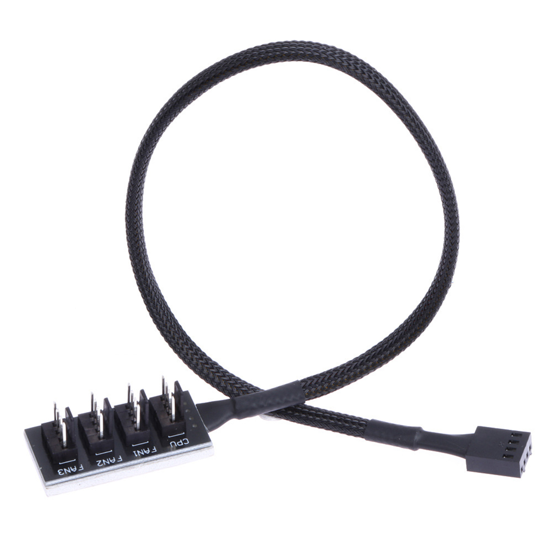 Braided Power Cable 1 to 5 / 4 Pins TX4 PWM <font><b>CPU</b></font> Cooler Computer Chasis Cooling Fan Hub Splitter <font><b>Adapter</b></font> Wire 35cm for PC image