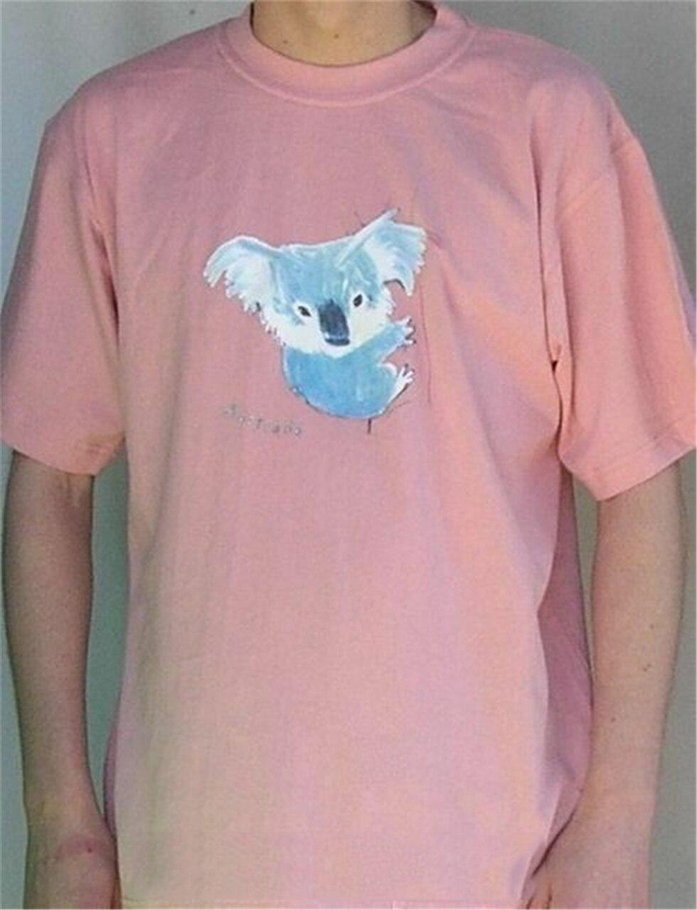 Arty футболка с изображением коалы (пыльно-розовый)-футболка с животными из Австралии-Бесплатная доставка! Забавная Футболка Harajuku