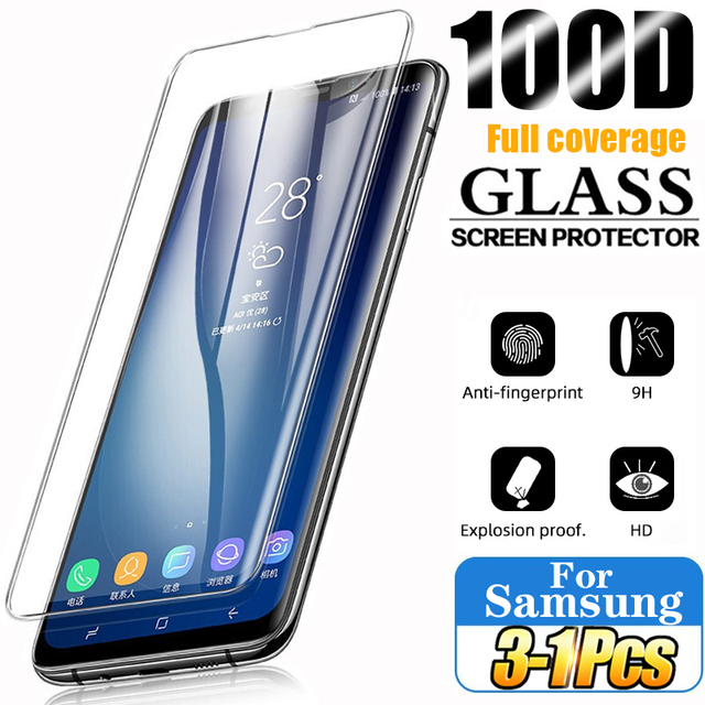 Tempered Glass For Samsung Galaxy S10 Plus Glass S9 S8 Screen Protector S20 S21 S10e S 9 8 10 e Note 20 Ultra S10 5G Note 8 9 10