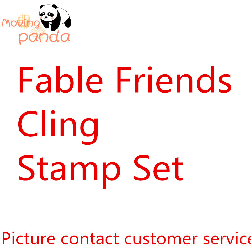 JC092 Fable Friends Metal Cutting Dies And Stamp For Scrapbooking Card Album Making Stencil Metal Die Cut Dies And Stamps Sets