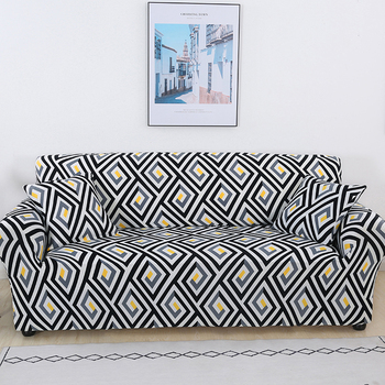 Sofa Covers for Living Room Modern Floral Printed Stretch Sectional Slipcover Polyester L Shape Armchair Couch Case 1/2/3/4 Seat 26