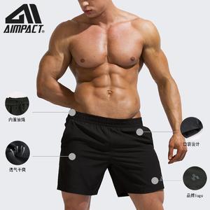 Image 5 - AIMPACT erkek yaz Fitness şortu erkekler Jogger rahat spor salonları eğitim spor şort vücut geliştirme hızlı kuru egzersiz plaj spor