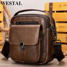 WESTAL erkek omuzdan askili çanta deri erkek tasarımcı çantası siyah ipad erkekler için Crossbody çanta çanta erkek deri çanta küçük çanta 7457