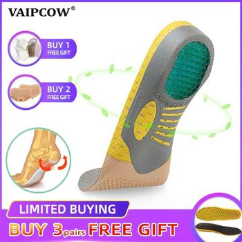 Wkładki ortopedyczne PVC Orthotics płaskostopie zdrowie podeszwa Pad dla wkładka do butów sklepienie łukowe pad dla podeszwy fasciitis pielęgnacja stóp tanie i dobre opinie VAIPCOW 1 cm-3 cm Średnie (b m) Arch Support pad a1 Stałe Anti-śliskie Wytrzymałe Szok-chłonnym Lekki Oddychająca